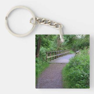 Wooden Bridge Acrylic Key Chain