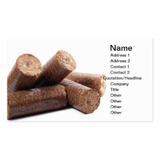 Wooden briquettes Double-Sided standard business cards (Pack of 100)