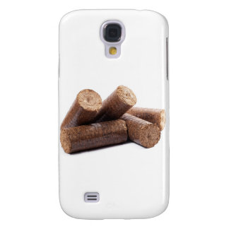 Wooden-briquettes Samsung Galaxy S4 Case