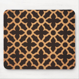 wooden brown floral abstracts designs mouse pad
