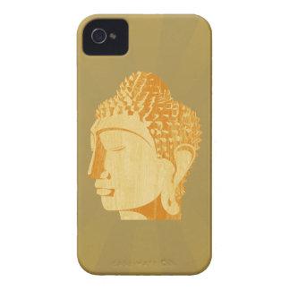Wooden Buddha Blackberry Case (golden background)