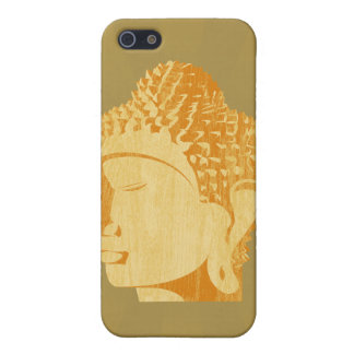 Wooden Buddha iPhone Case (gold background)