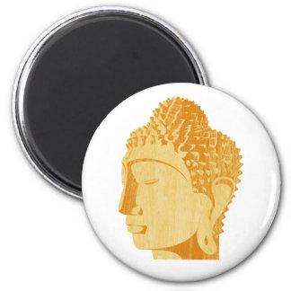 Wooden Buddha Magnet