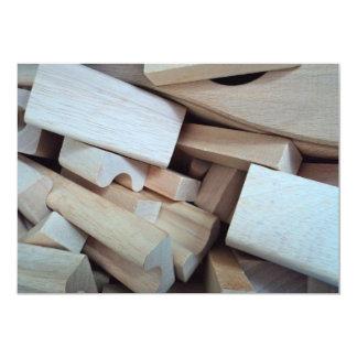 Wooden Building Blocks Invitation