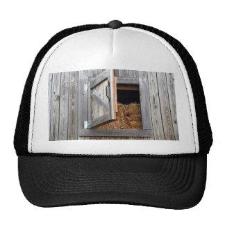 Wooden Building Hayloft Door Open Trucker Hats