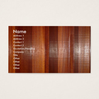 Wooden Buisness Card