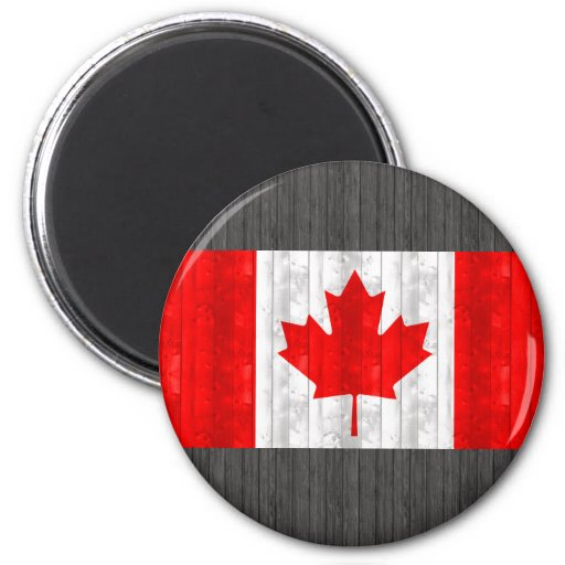 Wooden Canadian Flag Refrigerator Magnets