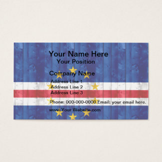 Wooden Cape Verdian Flag Business Card