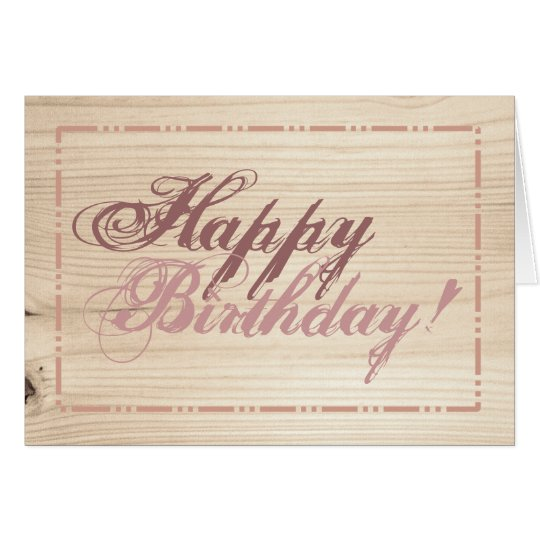 Wooden Card