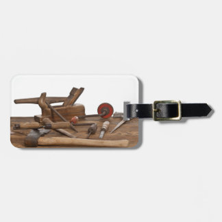Wooden Carpenter Tools Luggage Tag