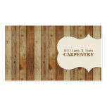 Wooden Carpentry Double-Sided Standard Business Cards (Pack Of 100)
