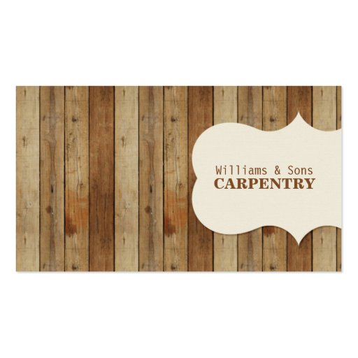 Wooden Carpentry Business Cards