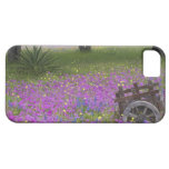 Wooden Cart in field of Phlox, Blue Bonnets with iPhone 5 Cover