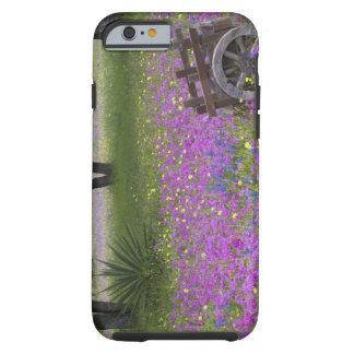 Wooden Cart in field of Phlox Blue Bonnets with iPhone 6 Case