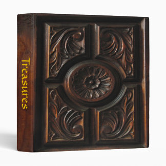 Wooden Carving 3 Ring Binder