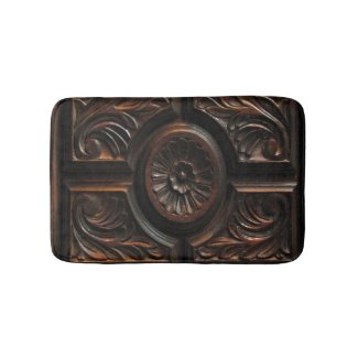 Wooden Carving Bath Mats
