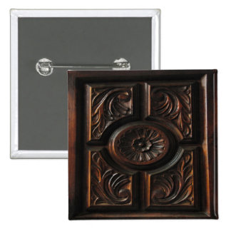 Wooden Carving 2 Inch Square Button
