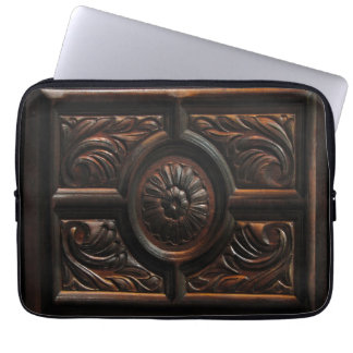 Wooden Carving Computer Sleeve