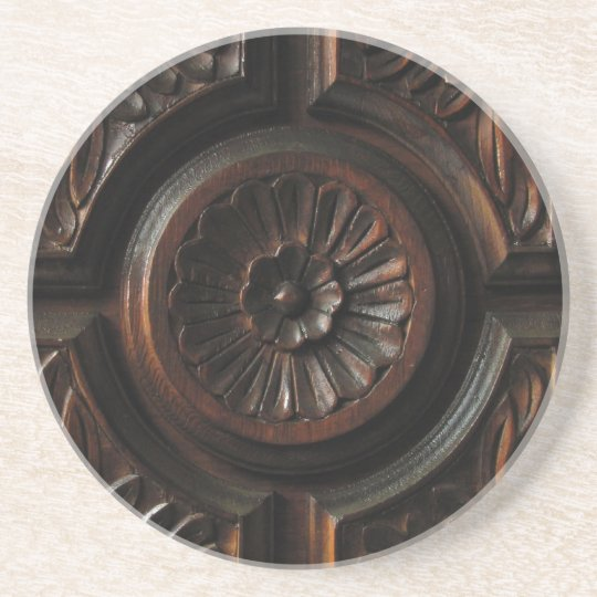 Wooden Carving Drink Coaster