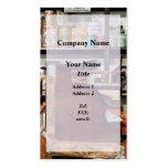Wooden Cash Register in General Store Business Card