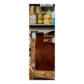 Wooden Cash Register in General Store Poster