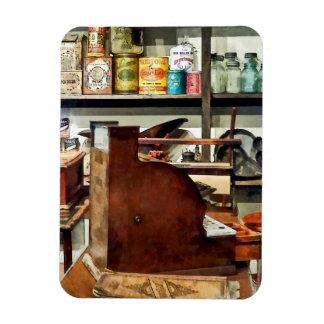Wooden Cash Register in General Store Rectangle Magnets