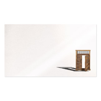 Wooden castle door locked and unlocked Double-Sided standard business cards (Pack of 100)