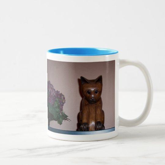 Wooden Cat Two-Tone Coffee Mug