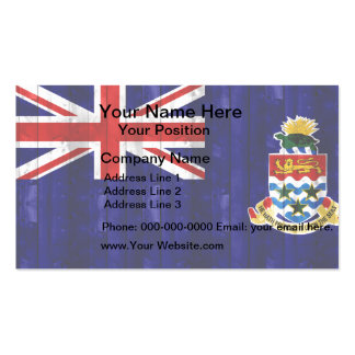 Wooden Caymanian Flag Business Card