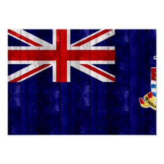 Wooden Caymanian Flag Posters