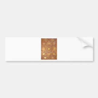Wooden Ceiling with Golden Stars The Alhambra Bumper Sticker
