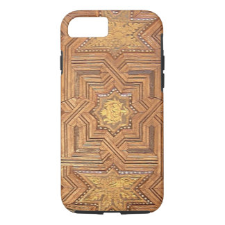 Wooden Ceiling with Golden Stars The Alhambra iPhone 8/7 Case