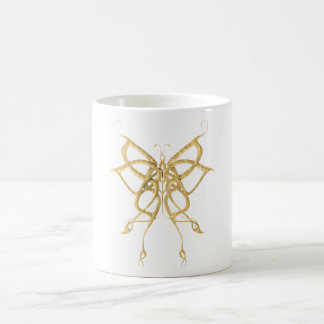 Wooden Celtic Butterfly Classic White Coffee Mug