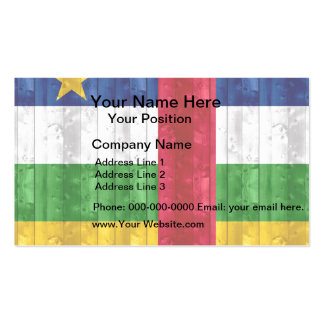 Wooden Central African Flag Business Card