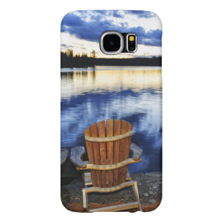 Wooden Chairs At Sunset On Lake Shore Samsung Galaxy S6 Case