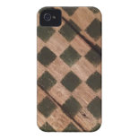 Wooden Checkers Chess Board iPhone 4/4S Case