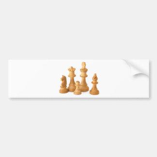 Wooden Chess Pieces Bumper Sticker