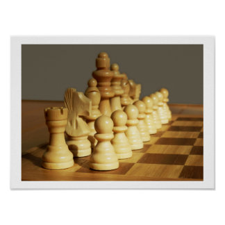 Wooden Chess Set Poster