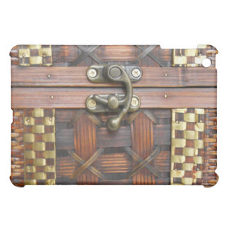 Wooden Chest with Metal Latch iPad Mini Case