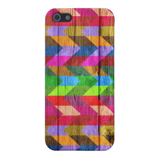 Wooden Chevron Pattern Zigzag iPhone SE/5/5s Cover