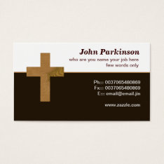 Wooden Christian Cross Business Card at Zazzle