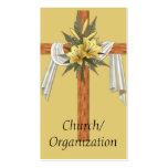 Wooden Christian Cross Business Cards