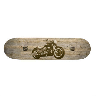 Wooden Classic Motorcycle Skateboard