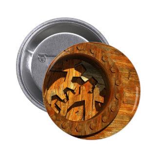 wooden clockwork button