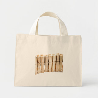 Wooden clothes pegs bags