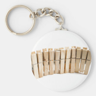 Wooden clothes pegs keychain