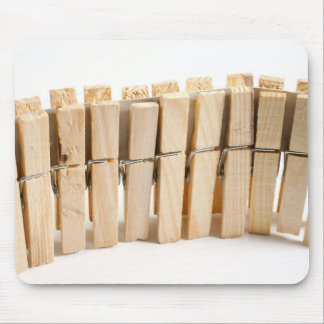 Wooden clothes pegs mouse pad