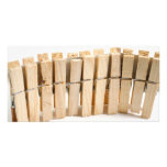 Wooden clothes pegs picture card