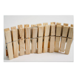 Wooden clothes pegs print