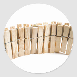 Wooden clothes pegs round stickers